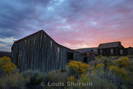 Sunset over Bodie