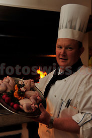 Fritz Scheplawy Chef at the Hotel Corvatsch in Saint Moritz