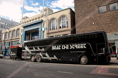 Beat The Street Tour Bus Parked outside the O2 ABC Theatre in Glasgow