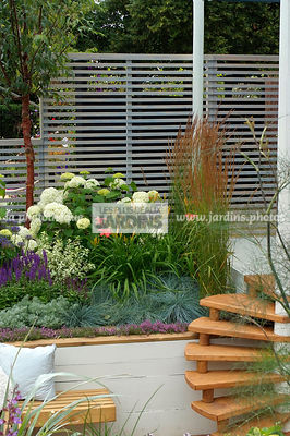 Border, Border with flowers, garden designer, Stair, Trellis, Digital, Grasses, raised bed, Raised border