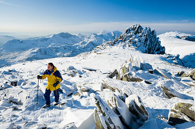 Winter walking on Glyder Fach, Snowdonia - BP2798
