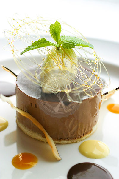 Chocolate and coconut parfait.