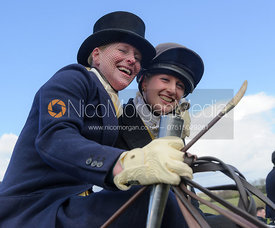 Lizzie Harris and Tabby Prest - Dianas of the Chase - Side Saddle Race 2014.