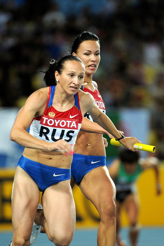4x100 women's Russian Team at the 2011 IAAF World Championships,Athletics,Daegu,S.Korea