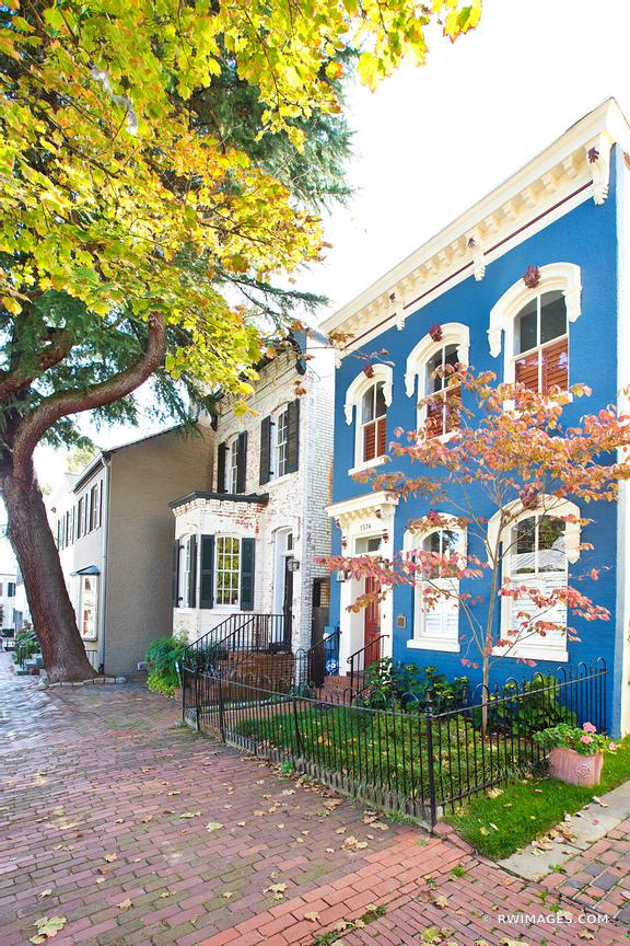 HISTORIC GEORGETOWN ARCHITECTURE WASHINGTON DC COLOR