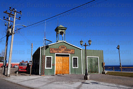 Historic fire station building , Pisagua , Region I , Chile