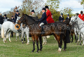 Nicky Hanbury, James Mossman near Little Dalby. Quorn Hunt Opening Meet 2018