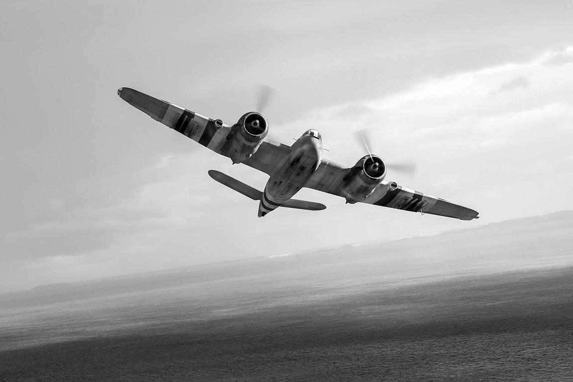 Bristol Beaufighter TF X black and white version