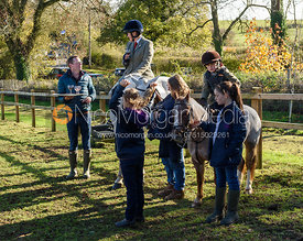 Alexandra Owen at the meet. The Cottesmore Hunt at Tilton