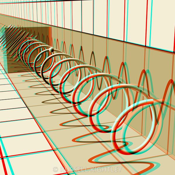 Anaglyph of a circularly polarized light wave #3