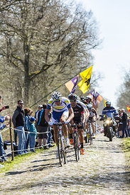 The Breakaway in The Forest of Arenberg- Paris Roubaix 2015