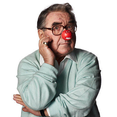 Studio portrait of Ronnie Corbett for Comic Relief