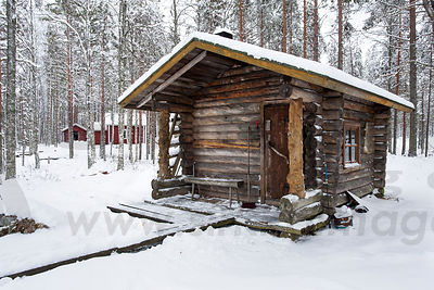 Old log sauna