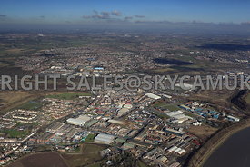 Widnes high level views of  Industrial Estate