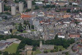 Rochdale aerial photograph of the Town Hall and the area surrounding Newgate and South Parade