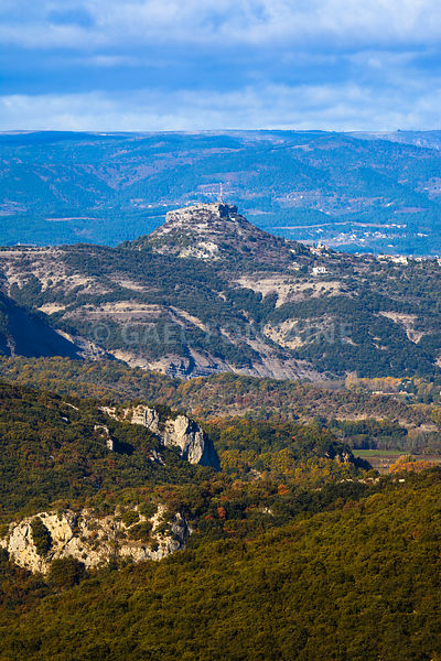 Landscape and peak at Gorges de l'Ardeche