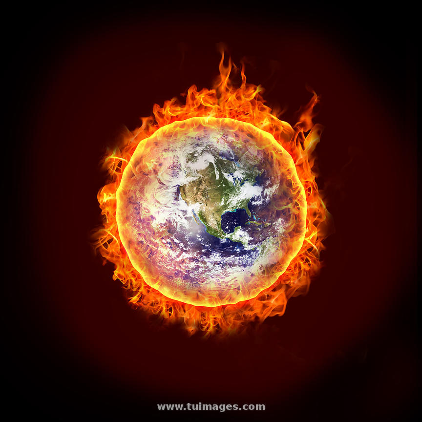 Media Global Warming: Stock Images Global Warming, Earth Is On Fire, A Burning