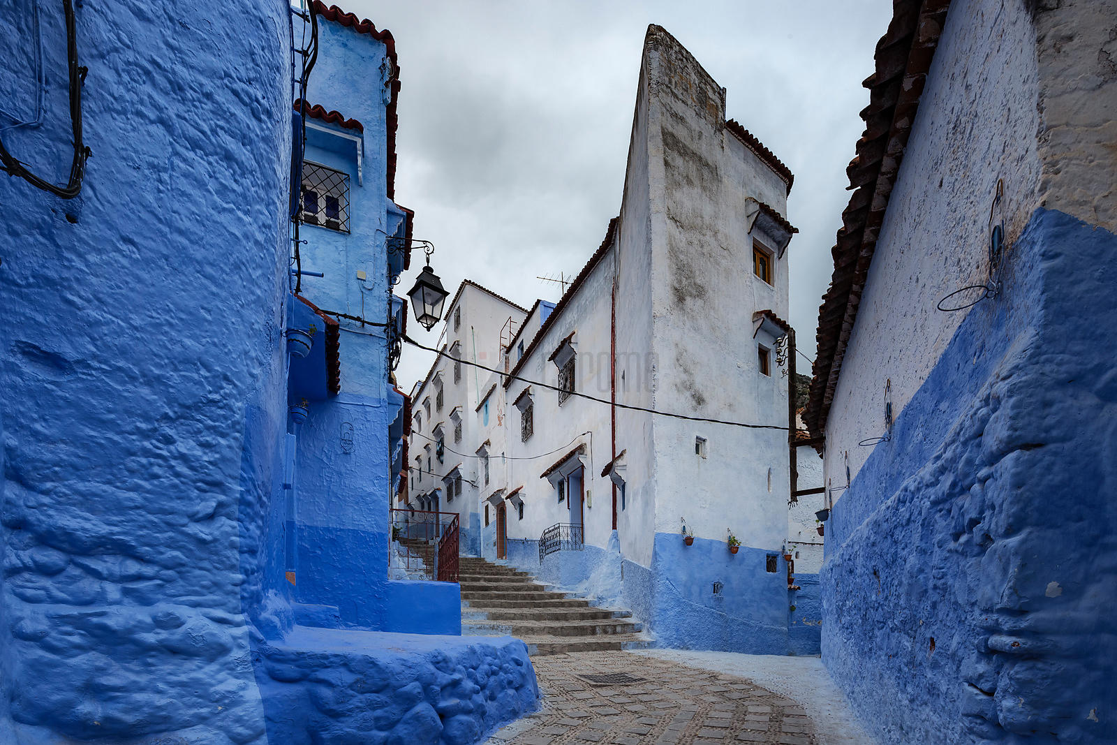 Chefchaouen Street at Dawn