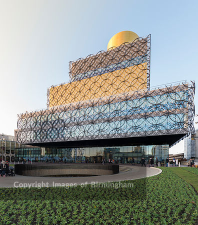 The library of Birmingham in Centenary Square, Birmingham, England.