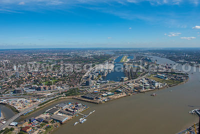 Aerial view of Silvertown, London