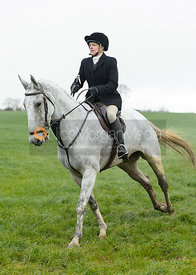 Margo Sly at Knossington Spinney - The Fitzwilliam Hunt visit the Cottesmore at Burrough House