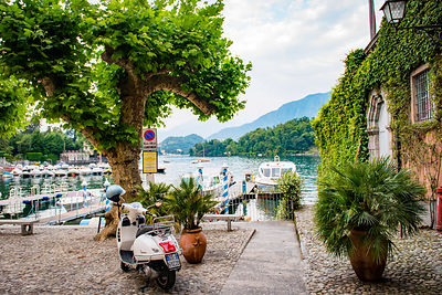 european motorcycle travel lake como