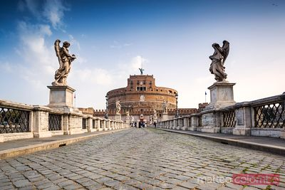 Castel sant' Angelo with bridge, Rome, Italy