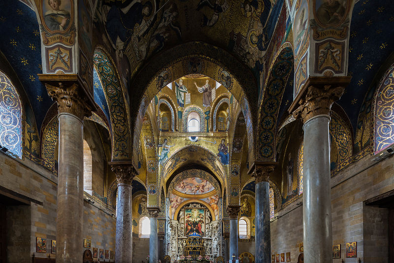 Interior of the Church of La Martorana