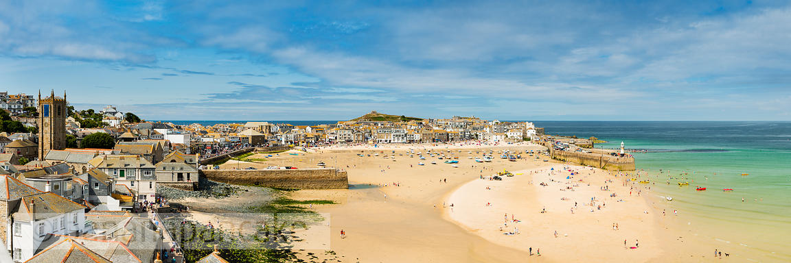 Panoramic view of St Ives, Cornwall, England - BP4290