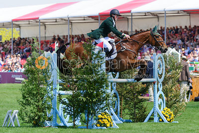 Sam Watson and HORSEWARE BUSHMAN - show jumping phase,  Mitsubishi Motors Badminton Horse Trials, 6th May 2013.
