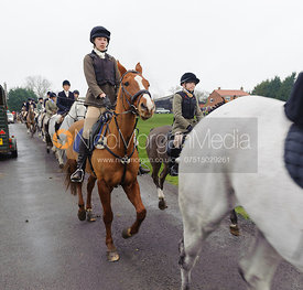 Supporters leaving the meet - Bedale at Tunstall, Catterick