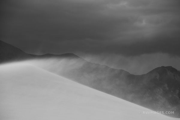 SANDSTORM GREAT SAND DUNES NATIONAL PARK COLORADO BLACK AND WHITE