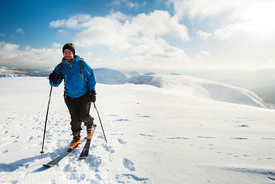 Skier on the summit of Helvellyn - BP3356B