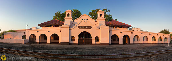 Panorama of the Modesto Railroad Depot #3