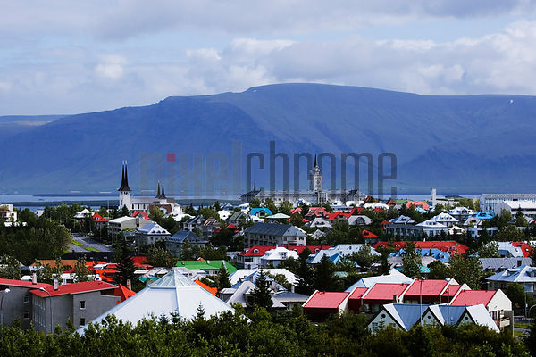 Skyline of Reykjavik from Perlan