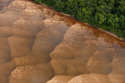 Aerial view of the Essequibo River, Iwodrama Reserve, Guyana, December 2009
