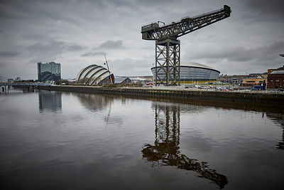 The SSE Hydro and Finnieston Crane