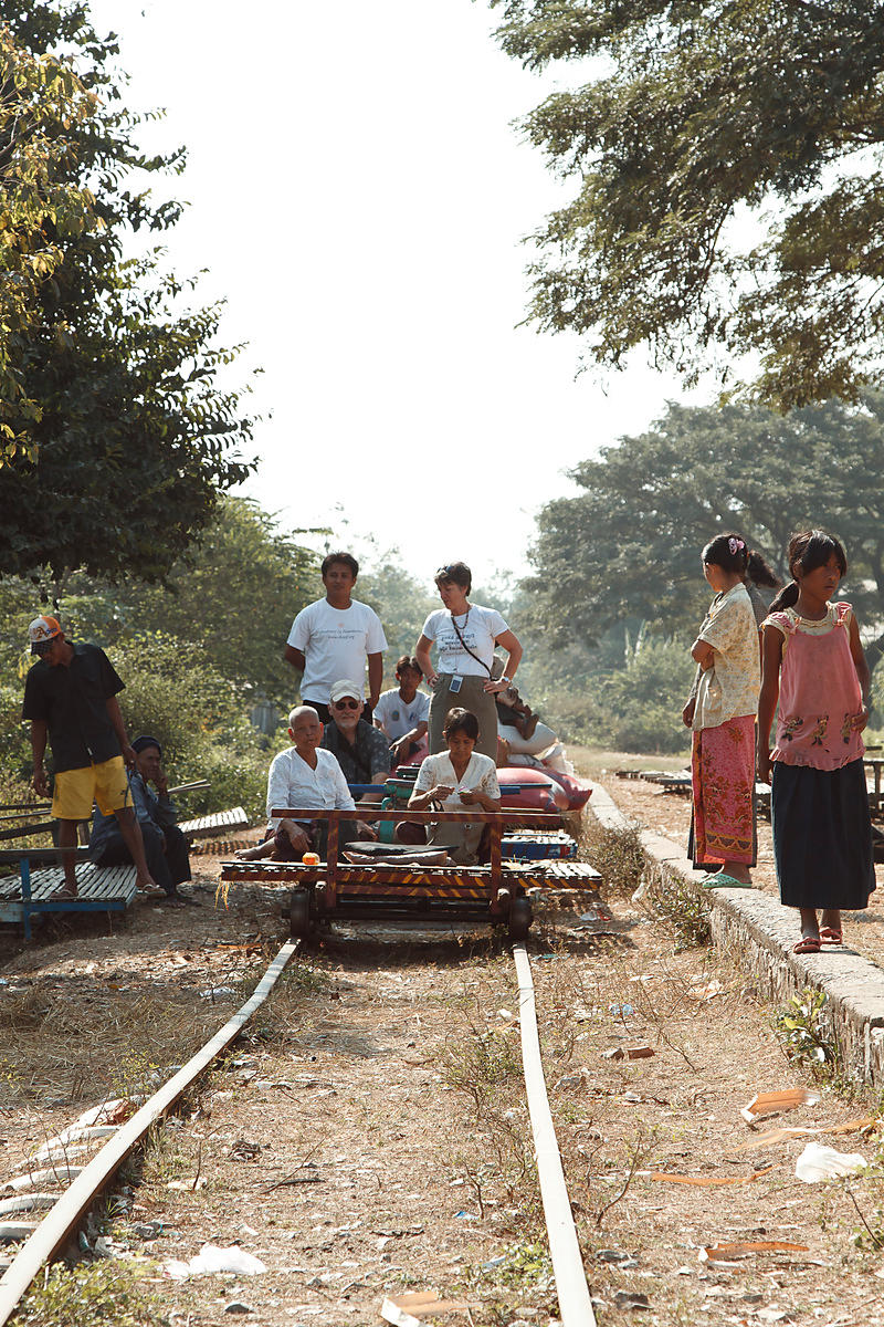 Bamboo train, Norry, Battambang, Cambodge, Cambodia