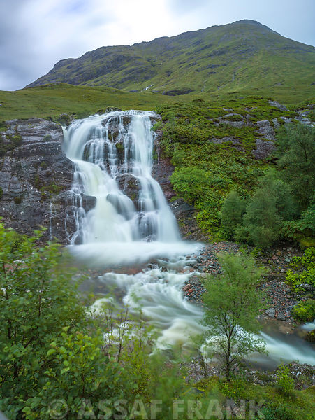 Waterfall in Glen Coe, Scotland