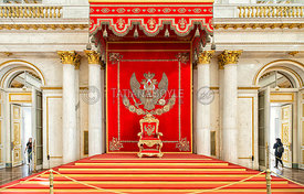 St. George's Hall in the Winter Palace; St. Petersburg, Russian Federation