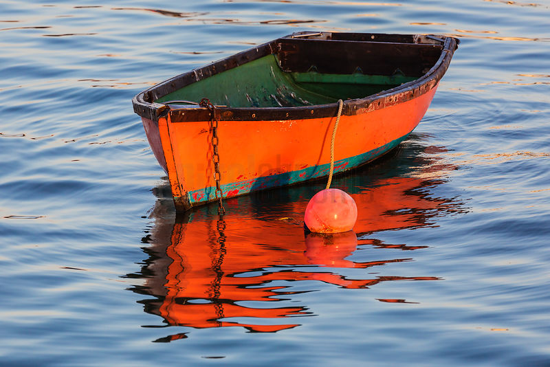 Red Dingy in Harbour