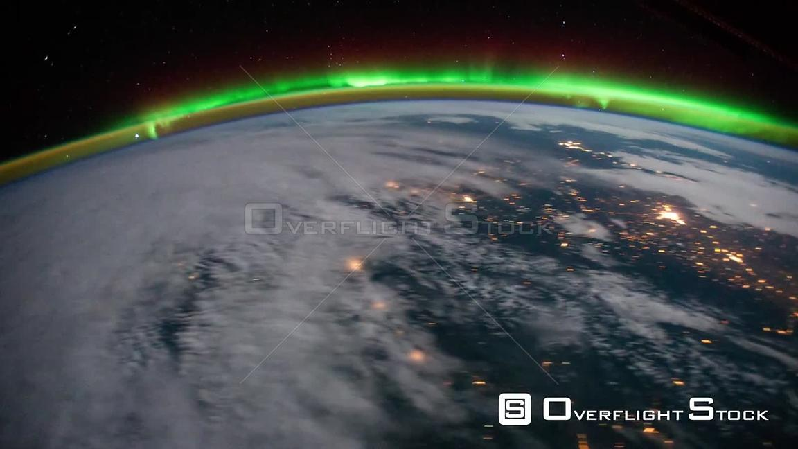 Time-Lapse from ISS over  USA Exp29 Aurora Borealis 18 Oct 2011