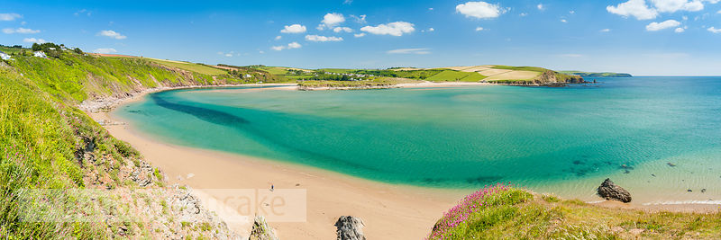 Panoramic view of Bantham beach, Devon (BP5349)