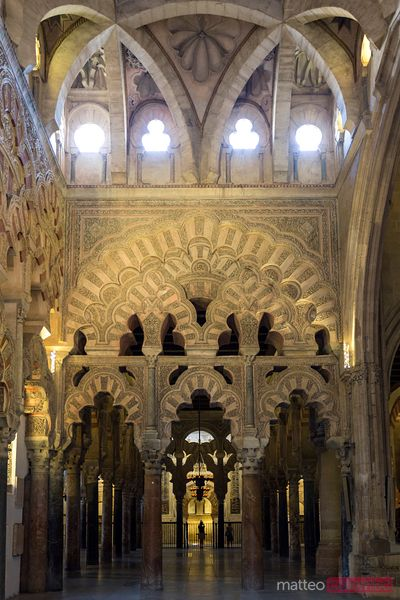 Interior of the Great Mosque of Cordoba, Andalusia, Spain