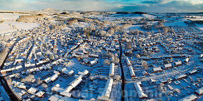 Much Wenlock snow (Panorama)