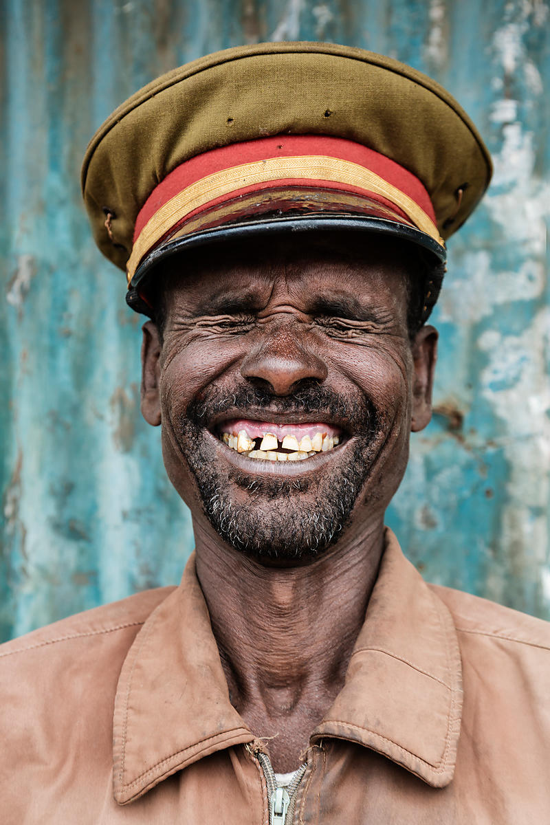 Portrait of a Smiling Security Guard