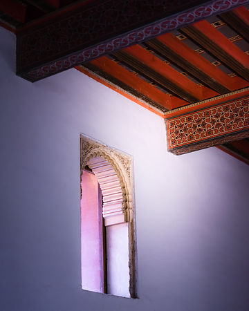 Nizari palace window and ceiling detail