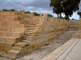 The recreated seating at Theatre, Sbietla Tunisia; Landscape