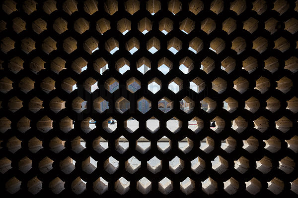 Stone Lattice Window at Atiq Jameh (Friday Mosque)