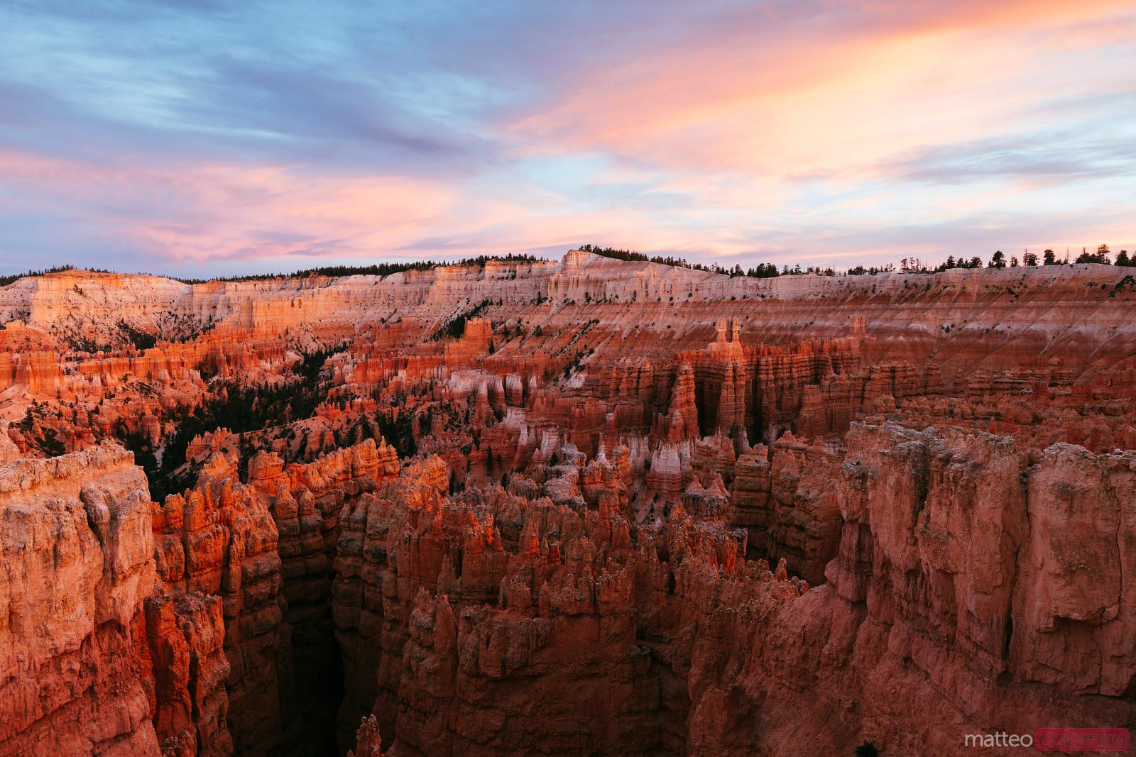 Awesome sunset at Bryce Canyon, Utah, USA